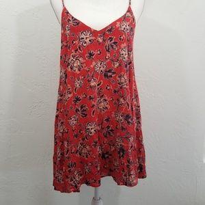 Anthro ecote celeste floral mini dress